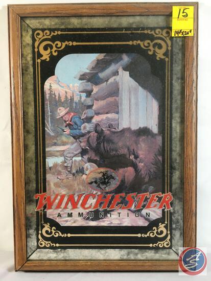 """Winchester Ammunition Bear Framed Print 14"""" x 20"""""""