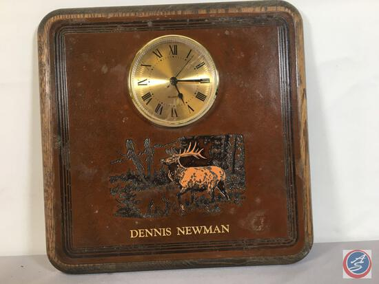 """Leather Cover Clock 11"""" x 11"""""""