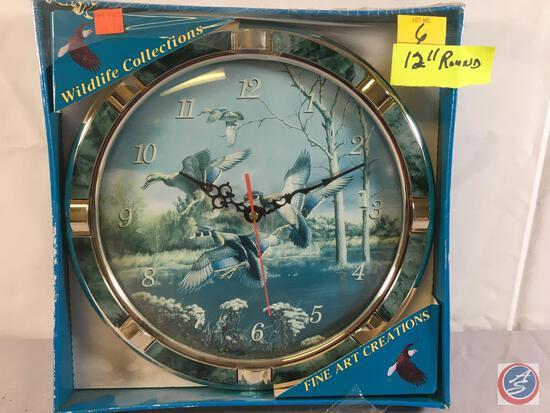 "Teal Clock 12"" Round"