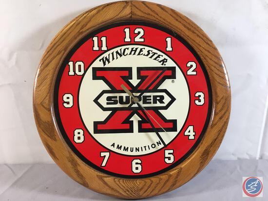 "Winchester Super X Clock 15"" Round"