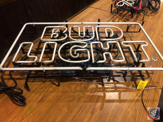 Bud Light Neon Sign Model No. EH-9030A {{NO SHIPPING AVAILABLE FOR THIS ITEM}}