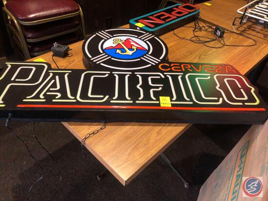 Cervasa Pacifico Neon Sign {{NO MODEL NO AND NO SHIPPING AVAILABLE FOR THIS ITEM}}