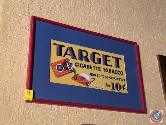 Framed Target Cigarette Tobacco Framed Poster Measuring 28'' X 19''