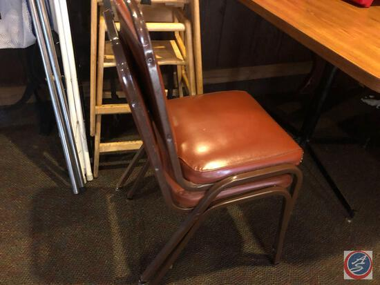 Dining Table Measuring 45 1/2'' X 30'' X 29 1/2'' with (2) General Mfg. Co. Dining Chairs Measuring