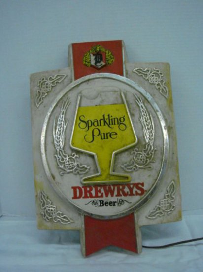 """SPARKLING PURE""  DREWERYS BEER BAR LIGHT 20"" X 13"""