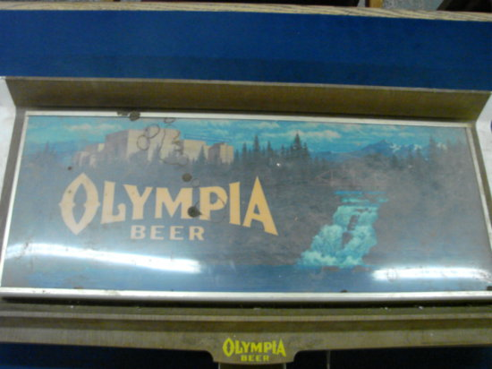 "OLYMPIA BEER BAR LIGHT 14"" X 30"""