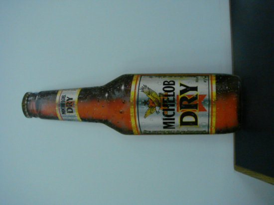 "MICHELOB DRY ""BOTTLE"" TIN SIGN"
