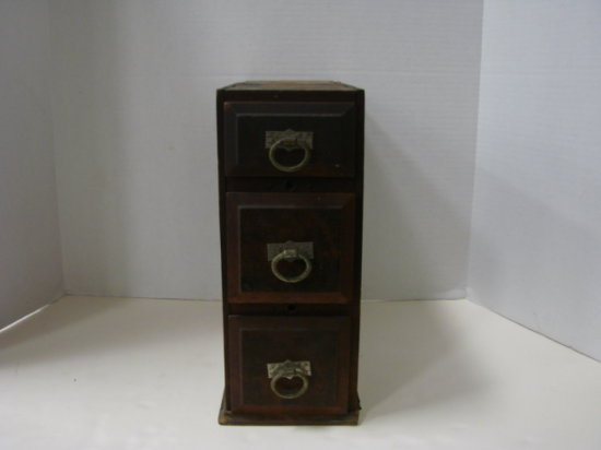 STACK OF 3 SEWING MACHINE DRAWERS - WOODEN