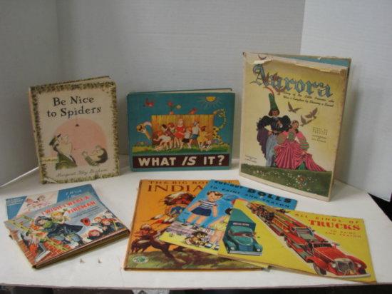 (8) VINTAGE CHILDRENS BOOKS - 40's - 60's