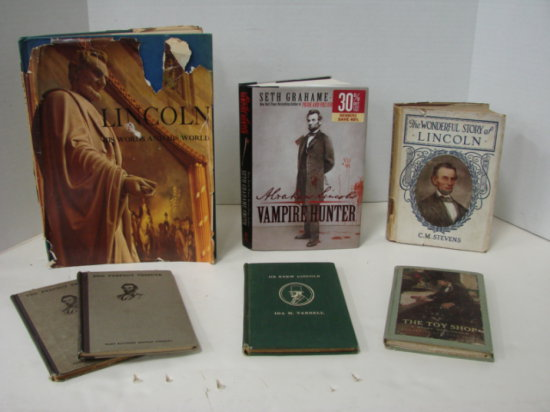 (7) MISC BOOKS ABOUT ABRAHAM LINCOLN