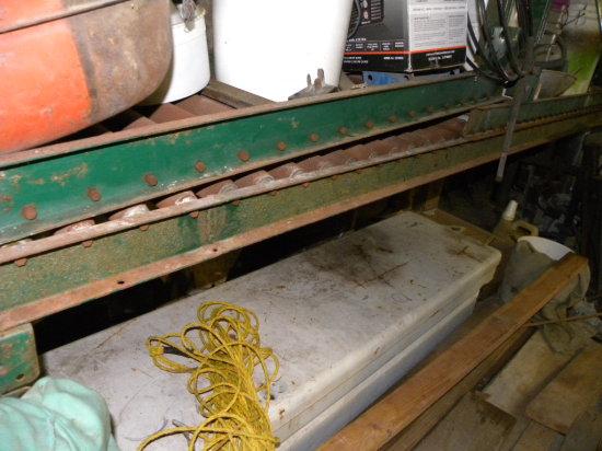 over 30ft of commercial roller conveyor w/ steel  legs