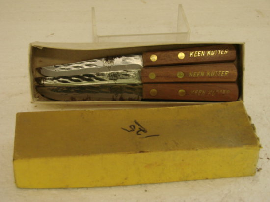 (5) KEEN KUTTER PARING KNIVES IN BOX