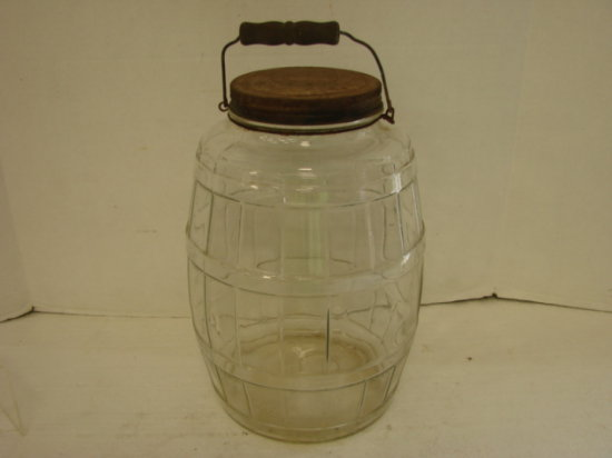 LARGE 2 GALLON GLASS BAILED PICKLE JAR