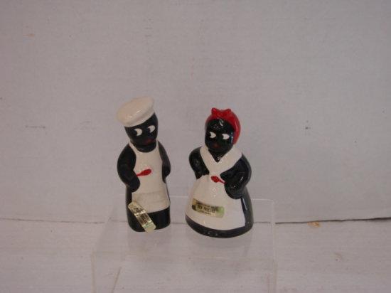 SOUVENIR OF NEW ORLEANS - BLACK AMERICANA SALT & PEPPER SHAKERS