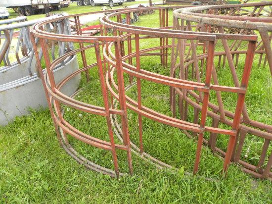 (2) SQUARE TUBE HAY RINGS