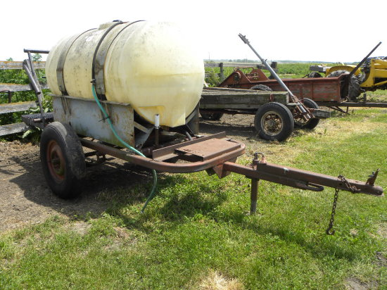 2 WHEEL TANK WAGON - HAS BEEN USED FOR CHEMICALS