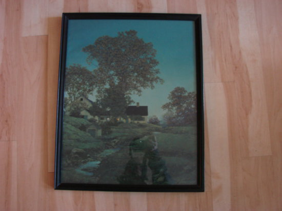 "MAXFIELD PARRISH ""EVENING"" FRAMED PRINT"