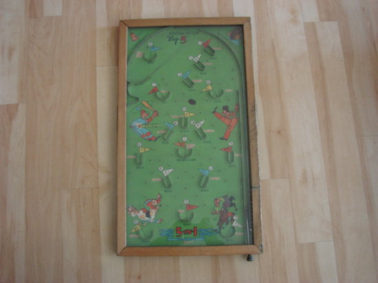 "NORTHWESTERN PRODUCTS ""PUSH'EM UP BIG 5"" VINTAGE TABLE TOP PIN BALL"