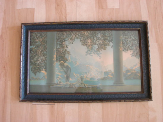"MAXFIELD PARRISH ""DAY BREAK"" FRRAMED PRINT"