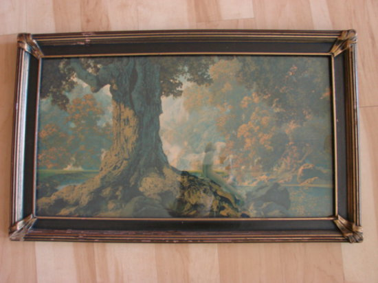 "MAXFIELD PARRISH ""DREAMING"" A/K/A ""OCTOBER"" FRAMED PRINT"