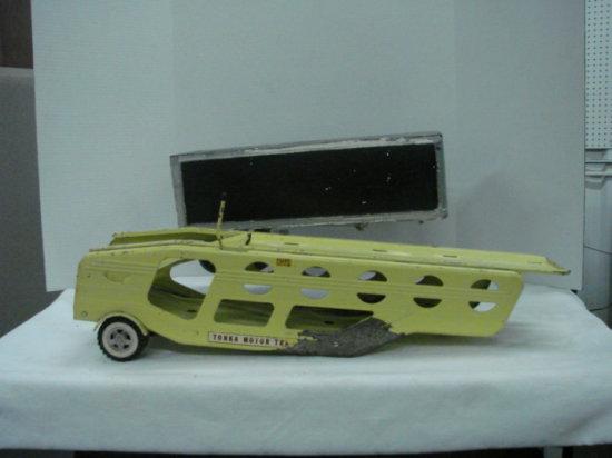 VINTAGE TONKA MOTOR TRAILER & UNMARKED BOX TRAILER