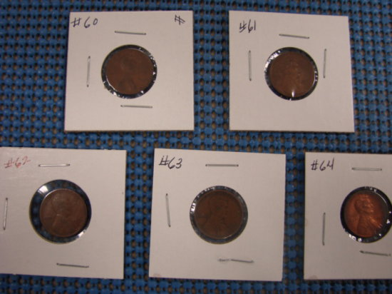 (4) WHEAT BACK PENNY'S - (1) LINCOLN HEAD CENT