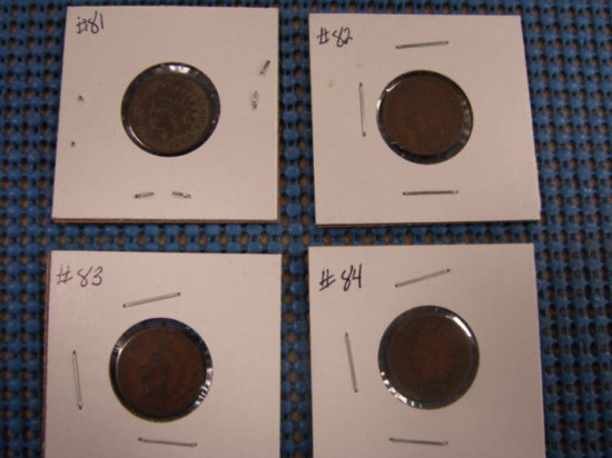(4) INDIAN HEAD PENNY'S