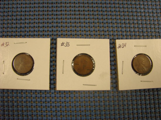 (3) WHEAT BACK PENNY'S