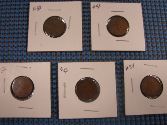 (5) WHEAT BACK PENNY'S