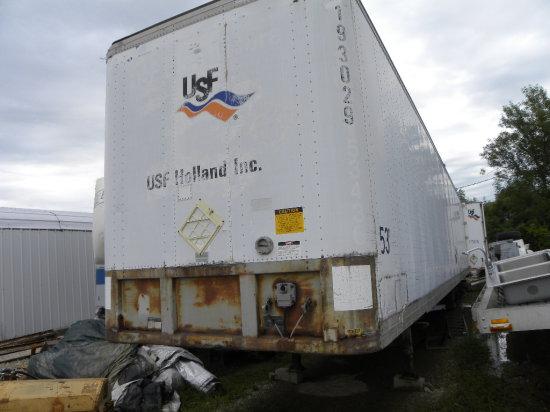 Fruehauf 53ft van semi trailer – used for storage, but likely road worthy