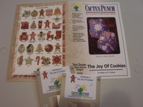 CACTUS PUNCH THE JOY OF COOKIES EMBROIDERY SOFTWARE