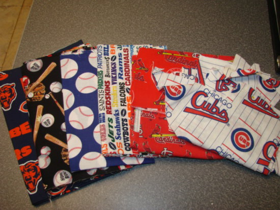 (6) SMALL YARDAGES OF SPORTS FABRIC