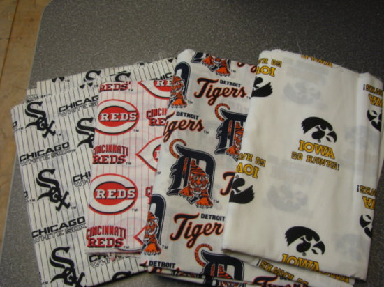 (4) SMALL YARDAGES OF SPORTS FABRIC