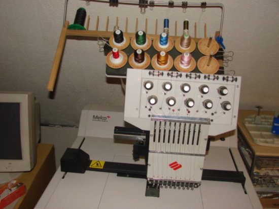 MELCO EMBRODIERY SYSTEMS 10 SPOOL INDUSTRIAL EMBRODIERY MACHINE
