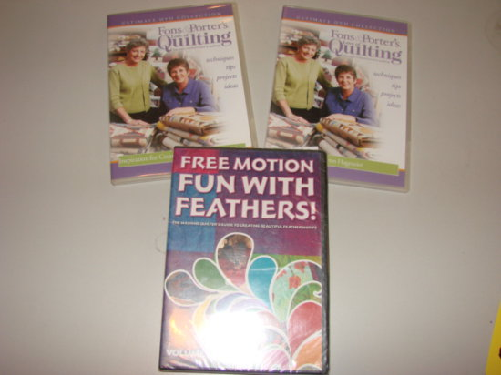 FONS & PORTER - PATSY THOMPSON  QUILTING DVDS