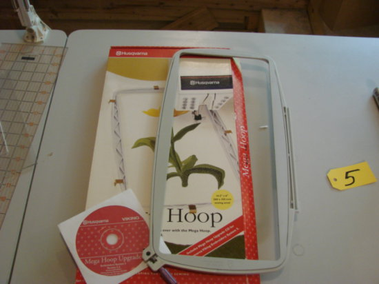 HUSQVARNA VIKING MEGA HOOP FOR DESIGNER I & DESIGNER II