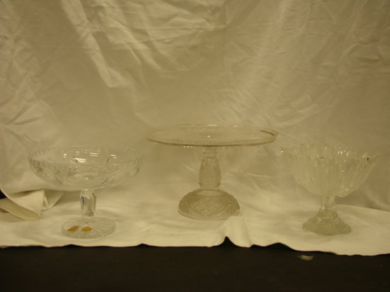 (3) CLEAR GLASS DISHES