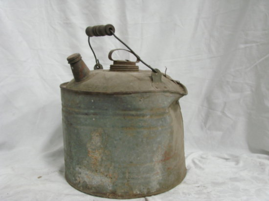 OLD GALVANIZED GAS CAN