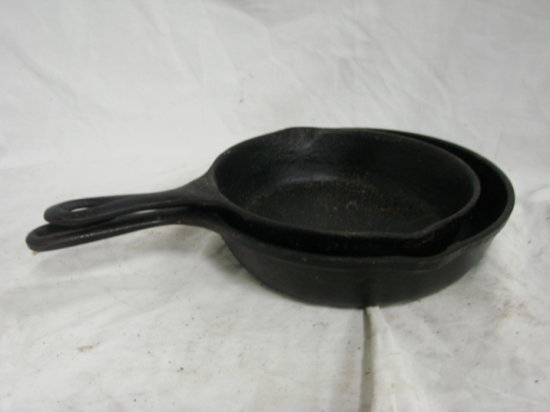 (2) SMALL CAST IRON SKILLETS
