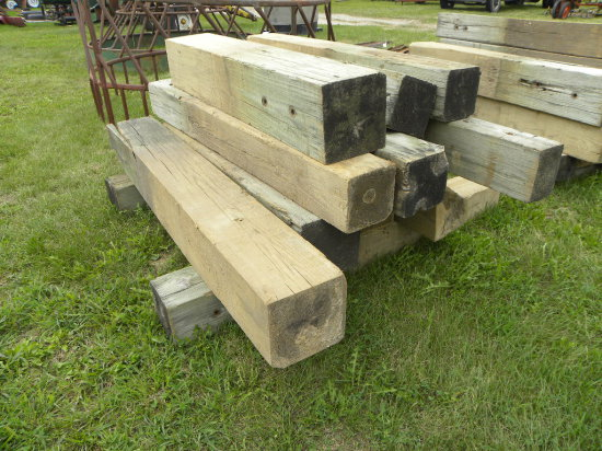 13 GUARD RAIL POSTS - VARIOUS LENGTHS - 5-7FT LONG - BULK LOT