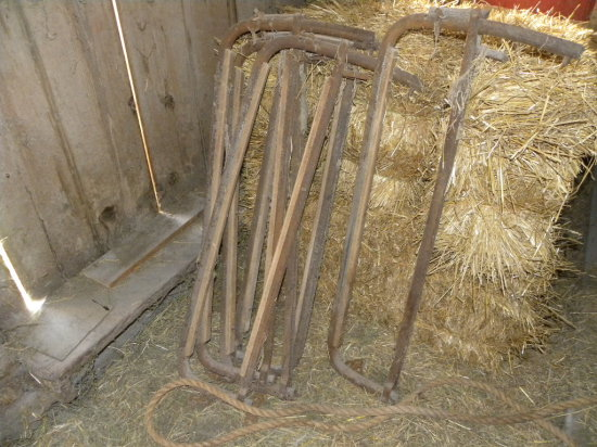 (9) STEEL DAIRY STANCHIONS