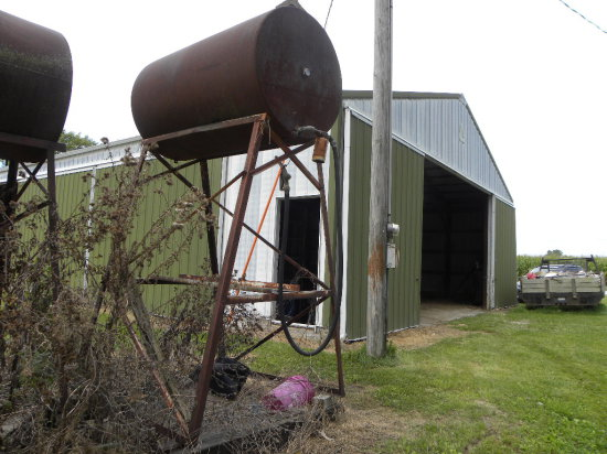 300 GAL OVERHEAD FUEL TANK & STAND