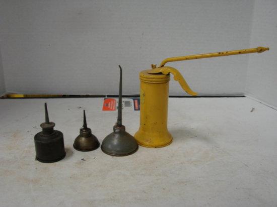 (4) VINTAGE OIL CANS