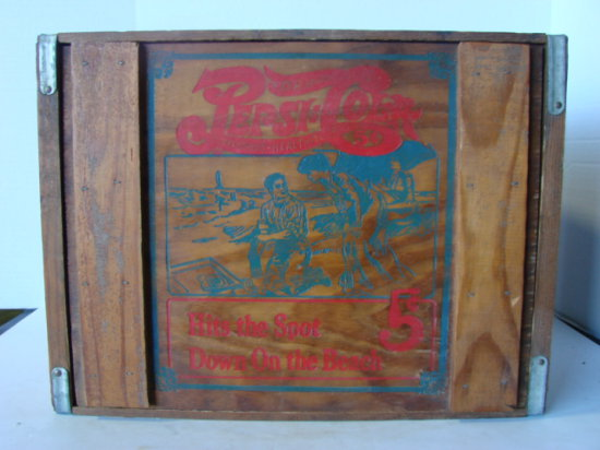PEPSI COLA DOUBLE DOT WOODEN CRATE