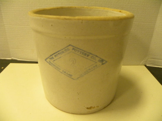 PITTSBURG POTTERY CO. # 2 STONEWARE CROCK