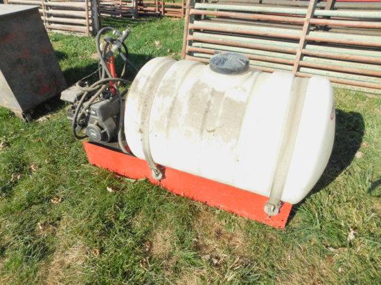 FIMCO 50 GAL SPRAYER ON SKID W/ 3.5HP BRIGGS ENGINE - NOT RUNNING