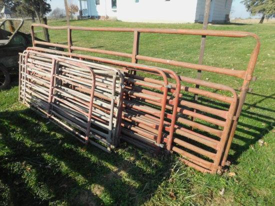 BULK LOT OF 7 VARIOUS SIZED HOG & CATTLE GATES