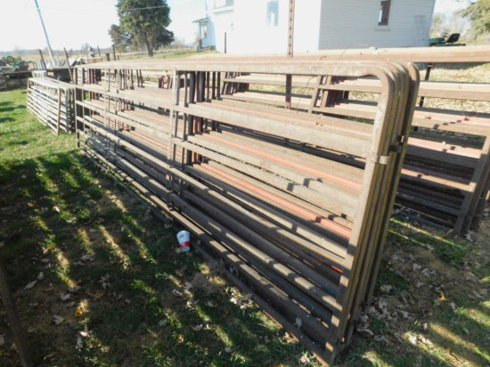 (6) 16FT SQUARE PIPE CATTLE GATES