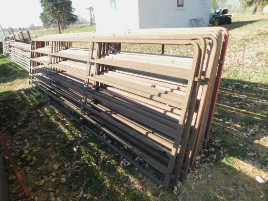 (10) 16FT SQUARE PIPE CATTLE GATES