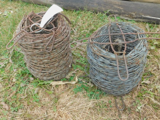 (2) PARTIAL ROLLS OF BARBED WIRE